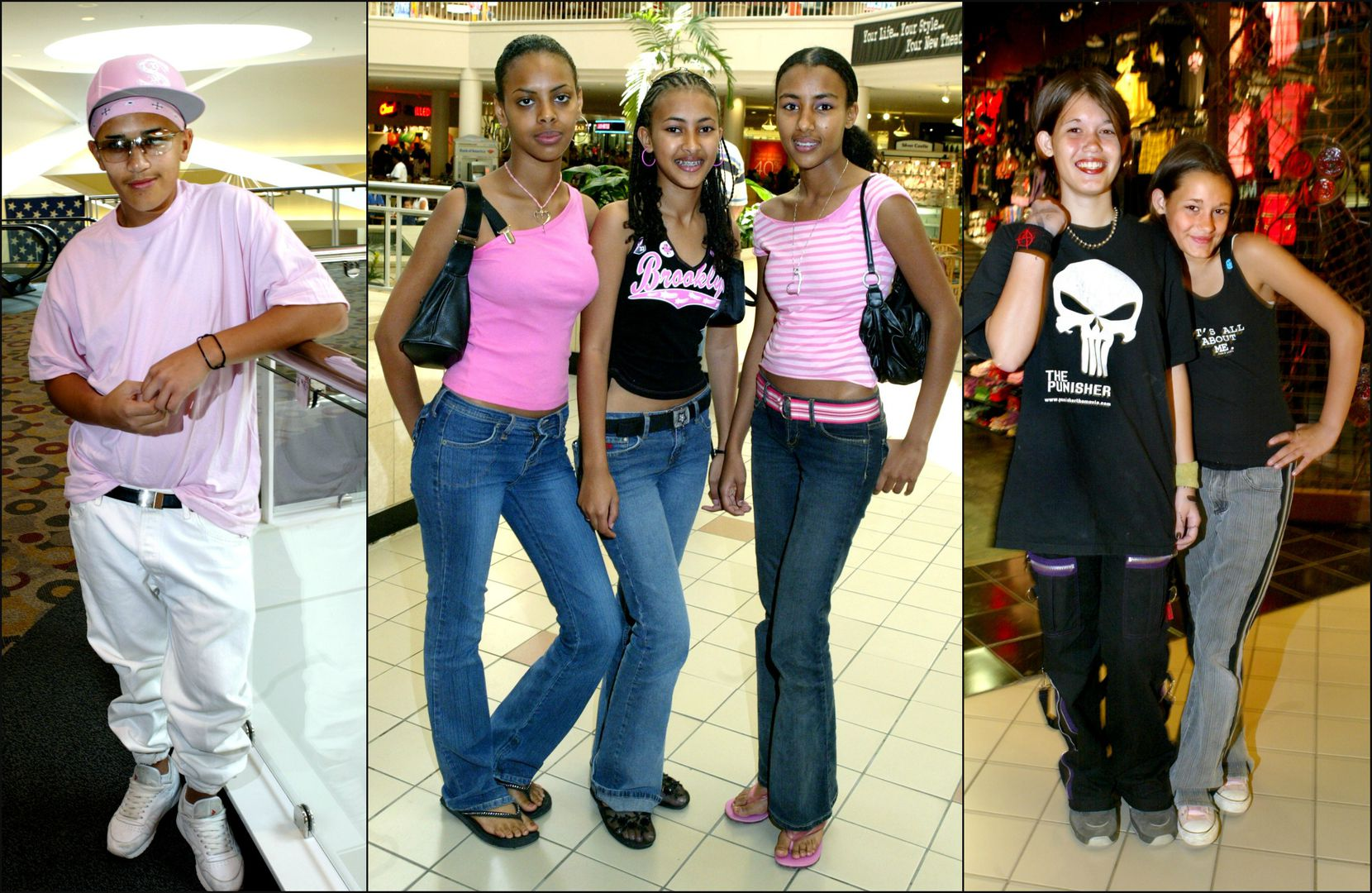 Left to right: Miguel Vasquez, Yordanos Melake, Fifi Russom, Sofia Russom, Chelse Ross and Courtne Ross were among the subjects of a back-to-school photo roundup in 2004.