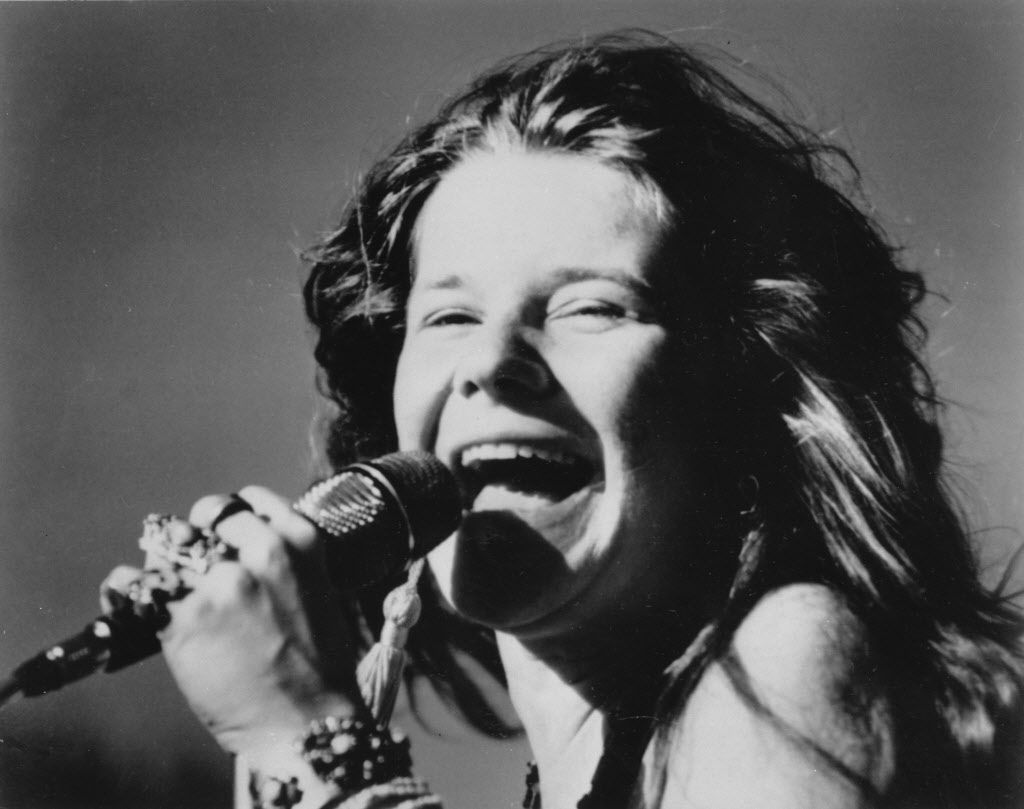 This is a 1969 photo of rock singer Janis Joplin.