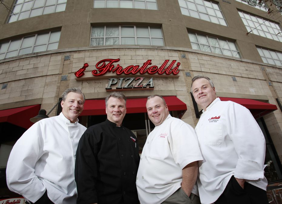 (From left) Darrell Cole, Mike Cole, David Cole and George Cole are partners of i Fratelli Pizza.