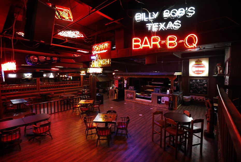The dining area at Billy Bob's Texas is shown in August. Billy Bob's has booked a number of big acts over the next few weeks.