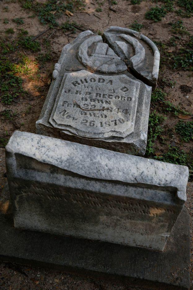At least this headstone in Pioneer Cemetery didn't vanish.