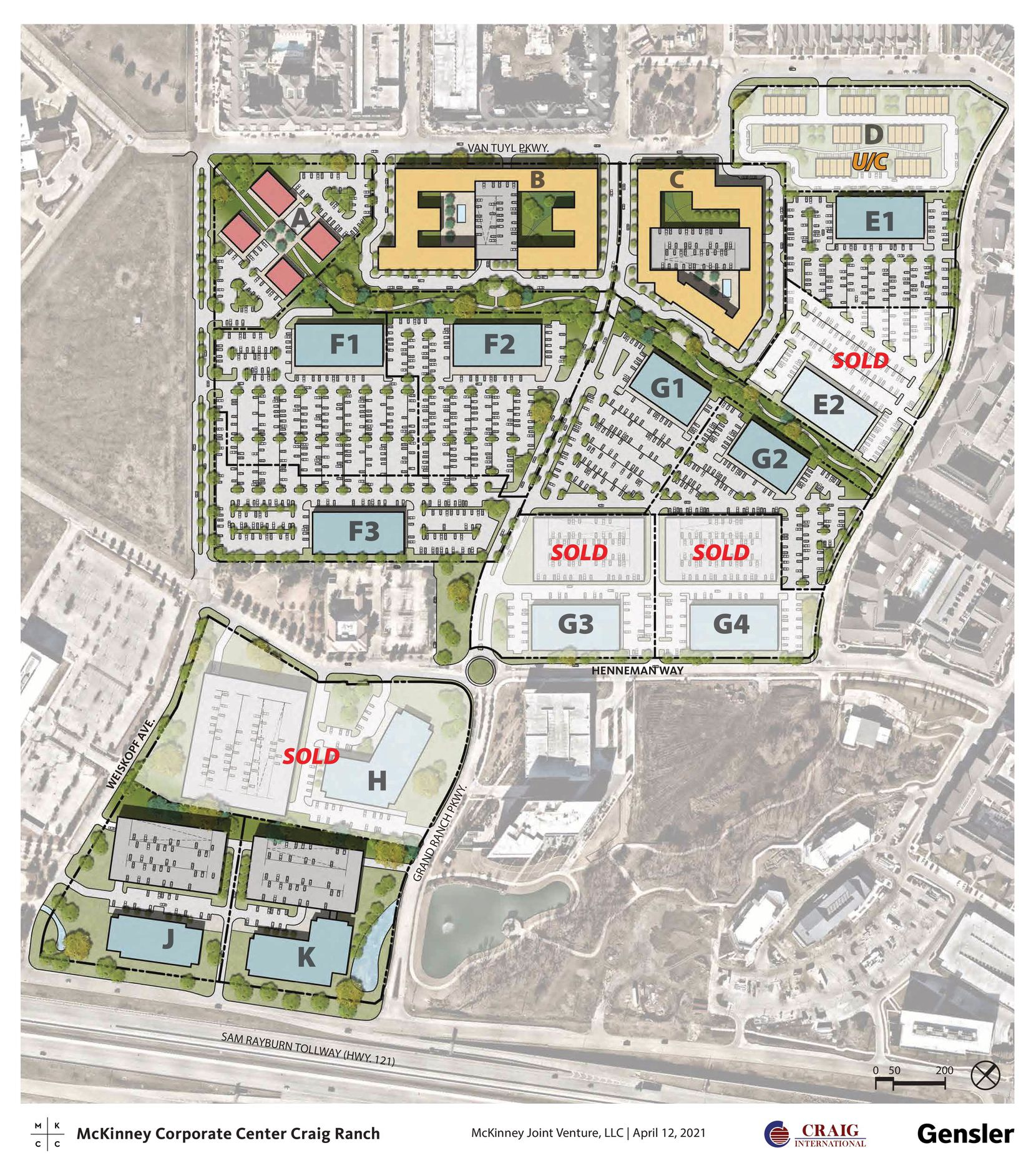 A rendering of McKinney Corporate Center Craig Ranch where Independent Financial has purchased an additional 17 acres of land for development.