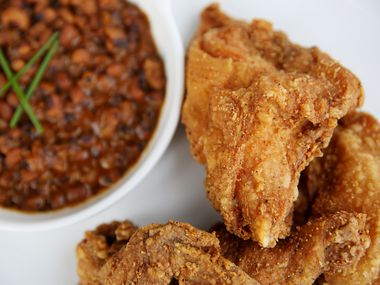 Fried chicken served inside Tupelo Honey restaurant in Frisco, Texas Tuesday September 12, 2017. The restaurant is located adjacent to The Star and the Ford Center.