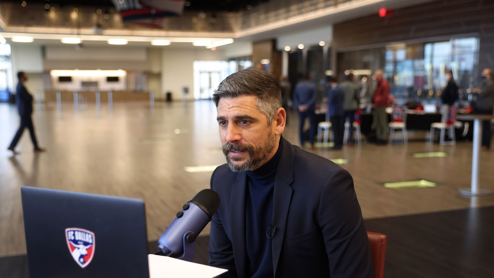 FC Dallas head coach Luchi Gonzalez announces selecting Nicky Hernandez virtually for the 15th pick of round 1in the MLS SuperDraft at Toyota Stadium on Thursday, January 21, 2021in Frisco, Texas.