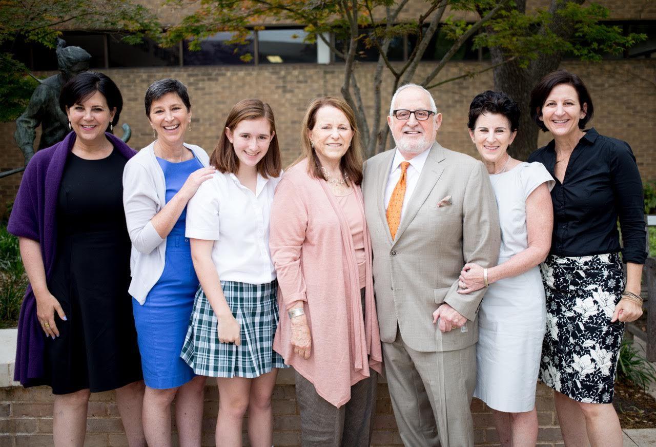 From left: Robin Kramer, Jessica Kramer, granddaughter Bebe Sullivan, Joan Kramer, Dr. Robert Kramer, Lisa Kramer Morgan and Megan Kramer.