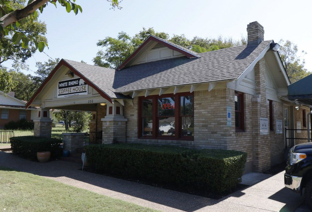 White Rhino Coffee, owned by Cedar Hill Councilman Chris Parvin, sits inside the town's special tax zone that he helped create.