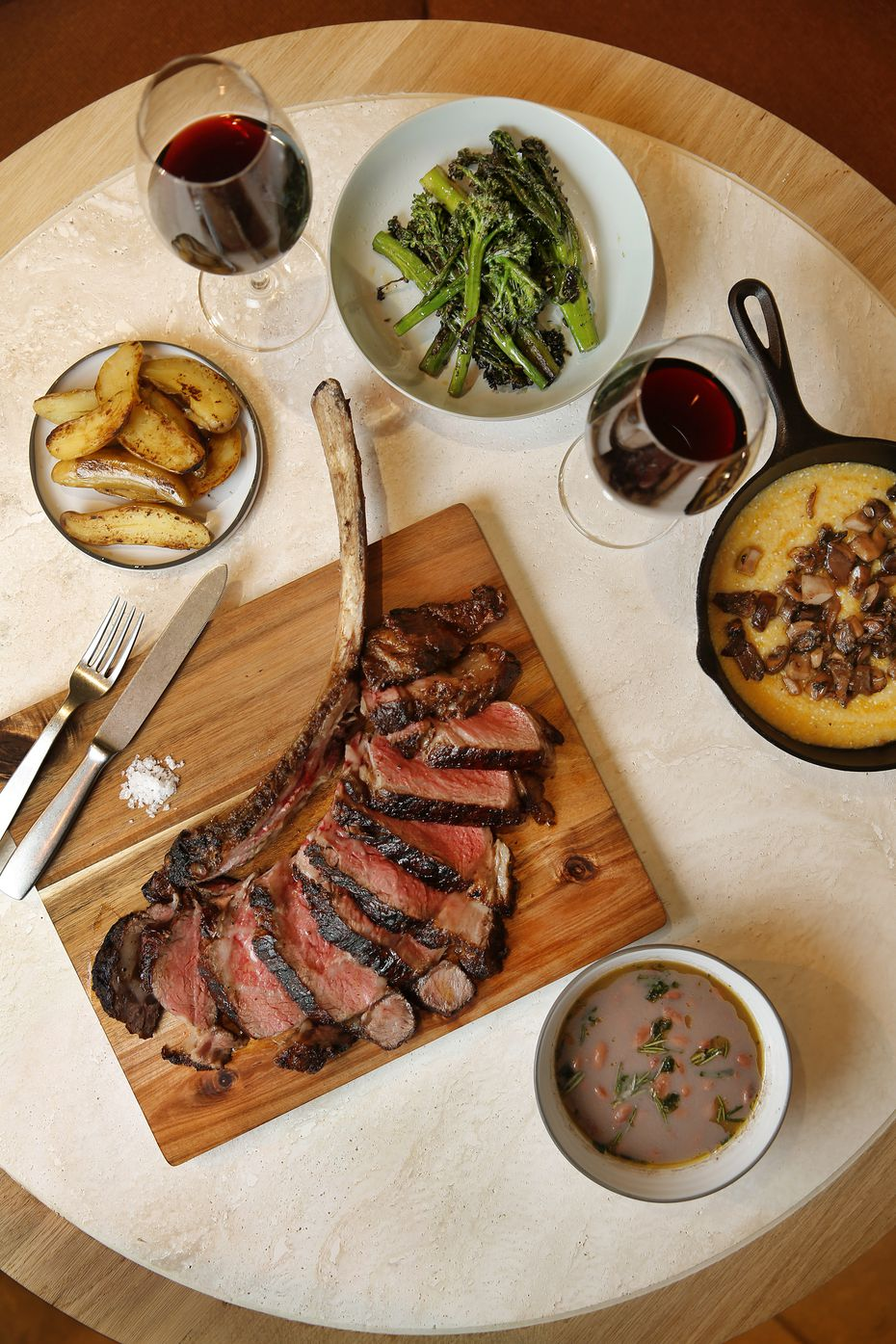 The Rib-eye Appesa is prepared with herbs, extra virgin olive oil and sea salt at Terra restaurant inside Eataly.