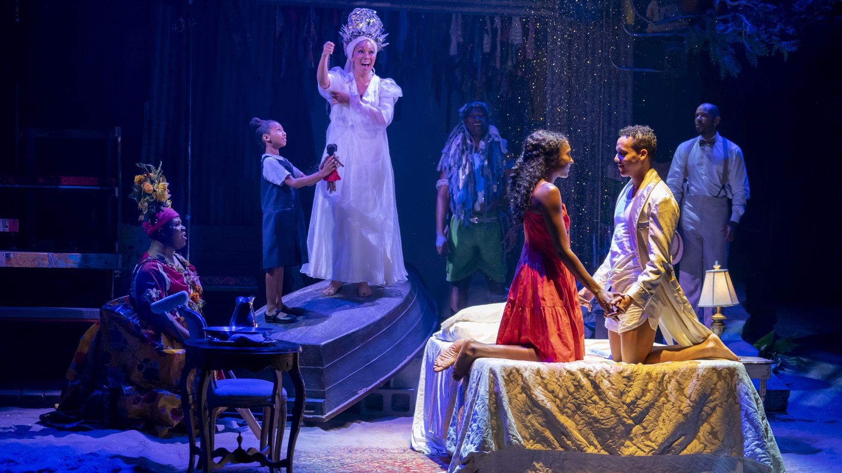"""The touring productionof the 2017 Broadway revival of""""Once on This Island"""" is coming to Dallas as part of the AT&T Performing Arts Center's Broadway series from Dec. 17-22. Directed by Michael Arden, this new version of the 1990 musical emphasizes realism as the characters deal with the aftermath of a flood and the class divide on their French Antilles archipelago."""