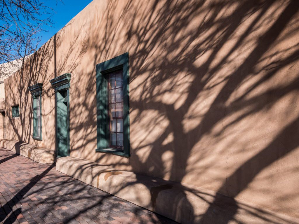 The New Mexico History Museum sits next to the Palace of the Governors in downtown Santa Fe.