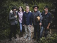 "From left, Kenny Withrow, Edie Brickell, John Bush, Brandon Aly and Brad Houser appear on the upcoming record ""Hunter and the Dog Star"" from Edie Brickell and New Bohemians."