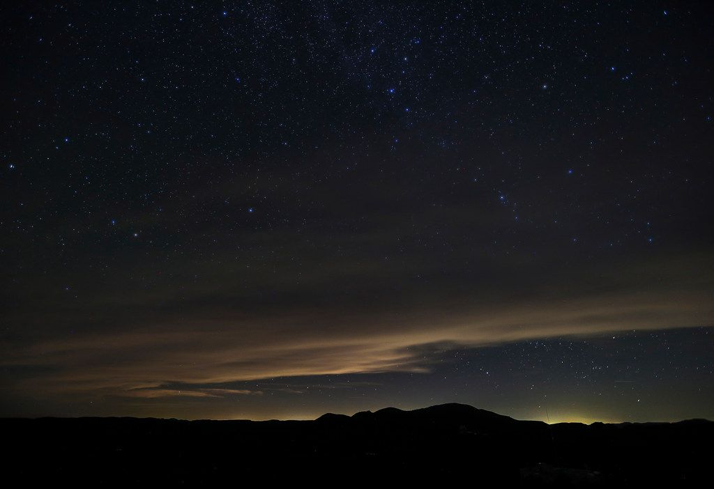 Light pollution in Texas' Permian Basin is seen from McDonald Observatory in November.