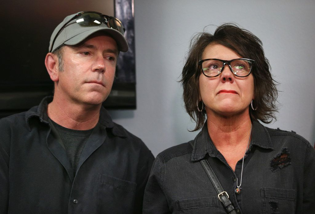 Mark Morris and Jonni Lee Hare, the parents of Christina Morris, attended a news conference where their daughter's remains were positively identified.