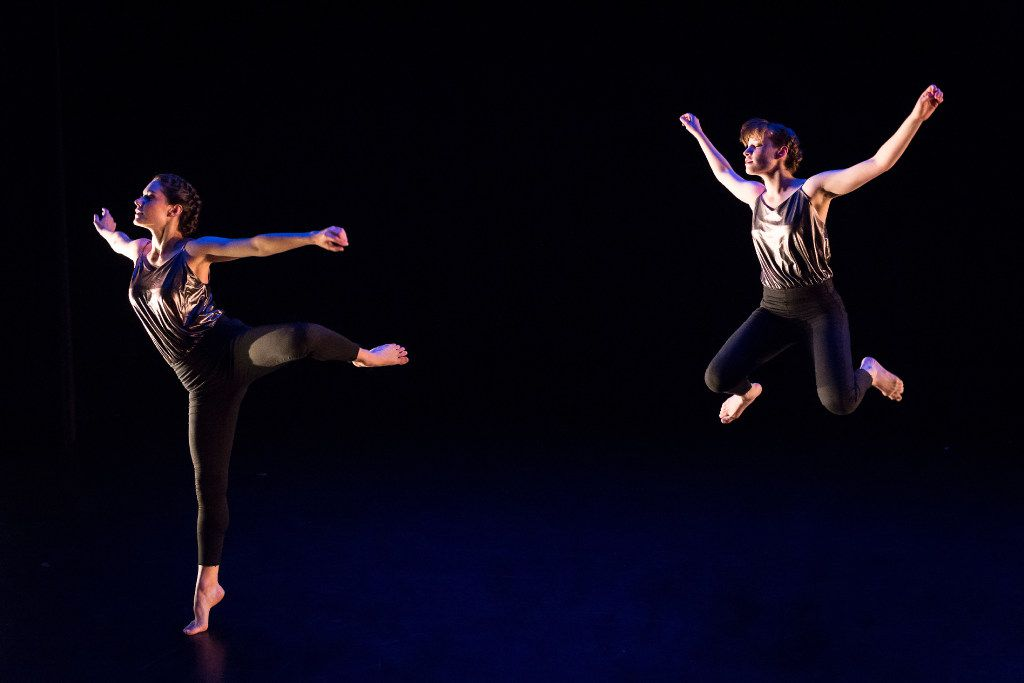 Emily Bernet (left) and Taylor Rodman of Bombshell Dance Project are scheduled to perform as part of the AT&T Performing Arts Center's Elevator Project series in August.
