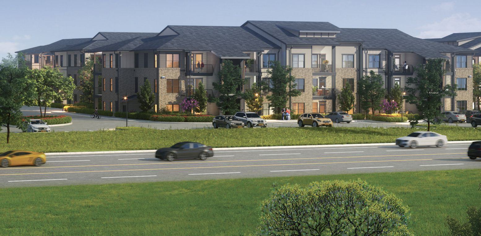 The NRP Group's Princeton Crossroads apartments will open in 2022.