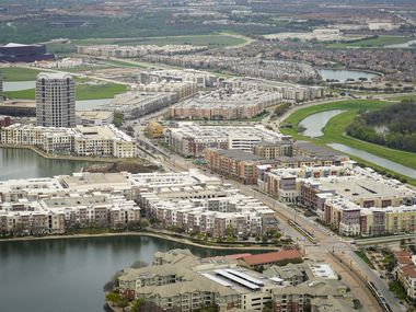 Aerial view of Las Colinas on Thursday, March 12, 2020, in Irving, TX.
