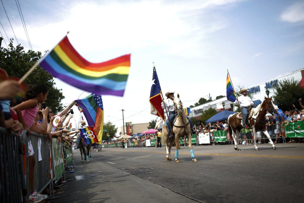 The Texas Gay Rodeo Association marches during the 30th annual Dallas Gay Pride Parade, Sunday, Sept. 15, 2013. (Garett Fisbeck/The Dallas Morning News)