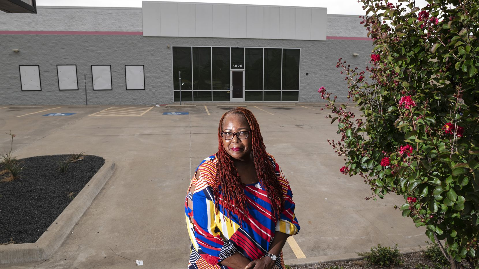 Cassandra Wesley, program manager of the soon-to-be Genesis Women's Shelter non-residential facility in southern Dallas, on July 19, 2021. The new facility will open this fall.