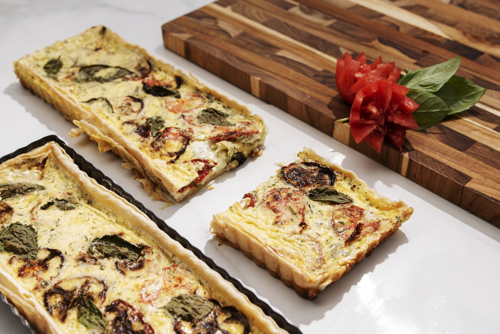 Quiche can come in a variety of shapes and sizes.