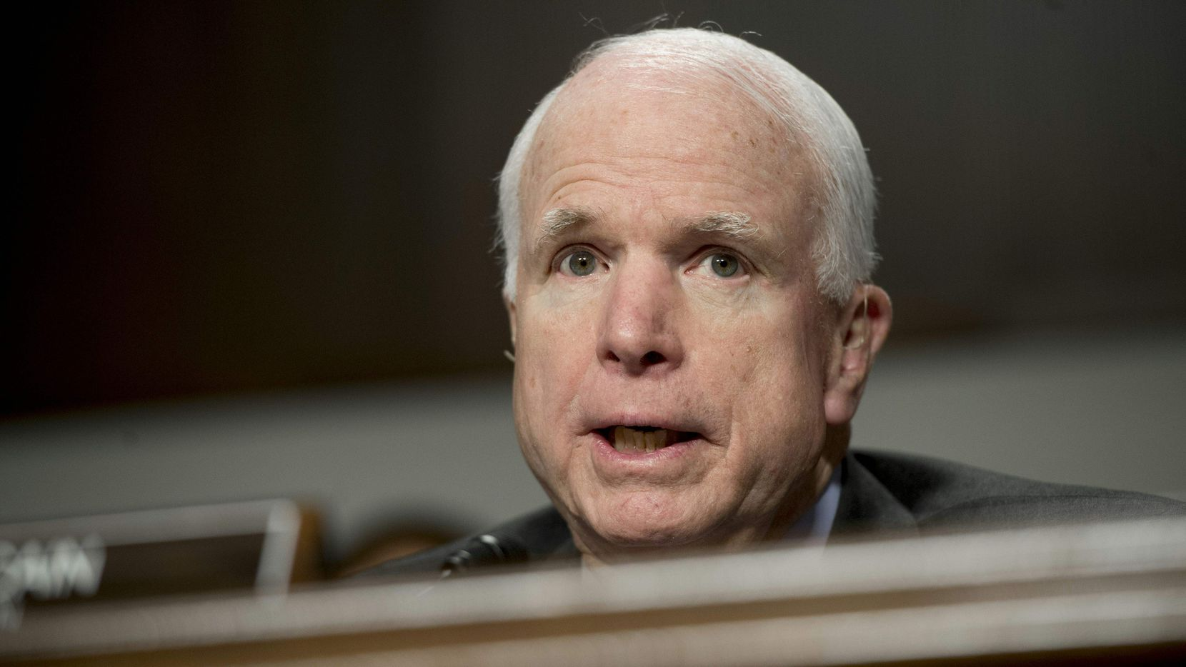 (FILES) This file photo taken on February 9, 2016 shows US Senator John McCain, Republican of Arizona and chairman of the Senate Armed Services Committee, speaking during a hearing on Capitol Hill in Washington, DC. US Senator John McCain has been diagnosed with brain cancer, his office said July 19, 2017.  / AFP PHOTO / Saul LOEBSAUL LOEB/AFP/Getty Images