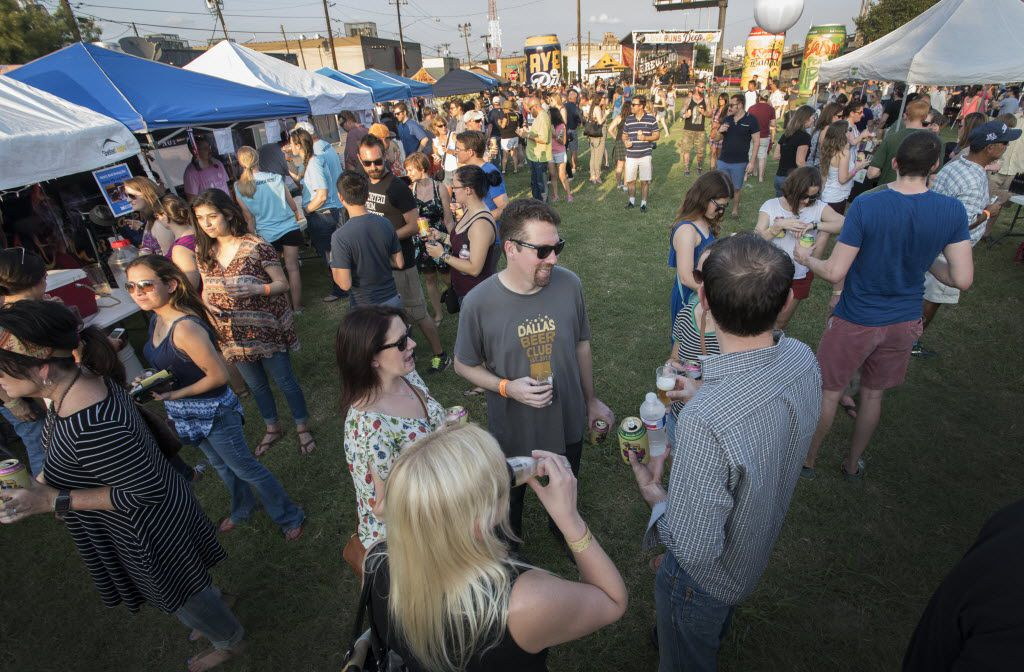 Home brew fans gather to sample beers during the Labor of Love Home Brewing Festival at Deep Ellum Home Brewing Co. in 2016.