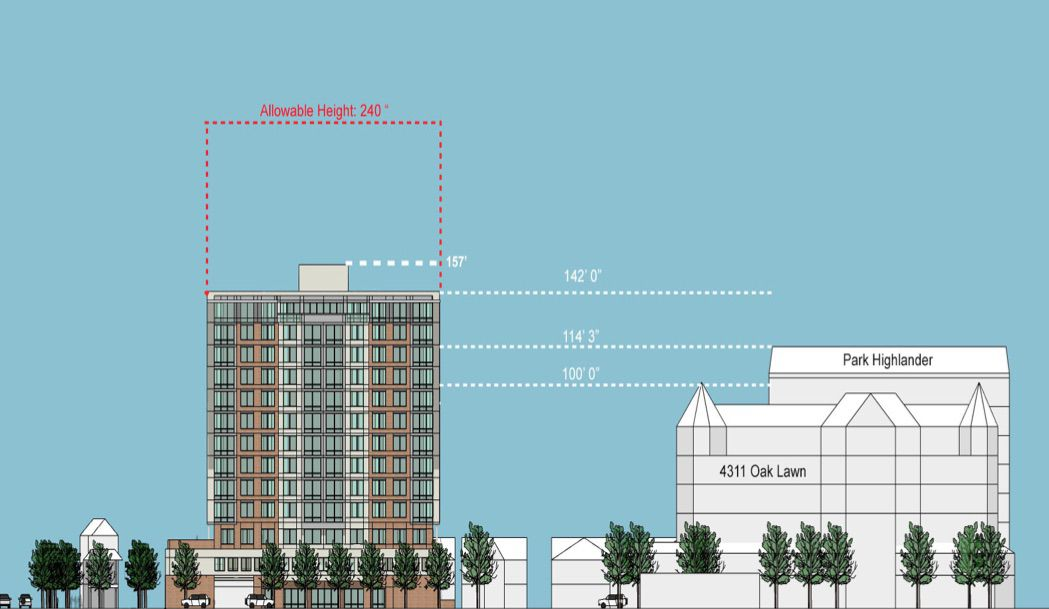 The proposed senior housing project is an an area that already has multistory buildings.