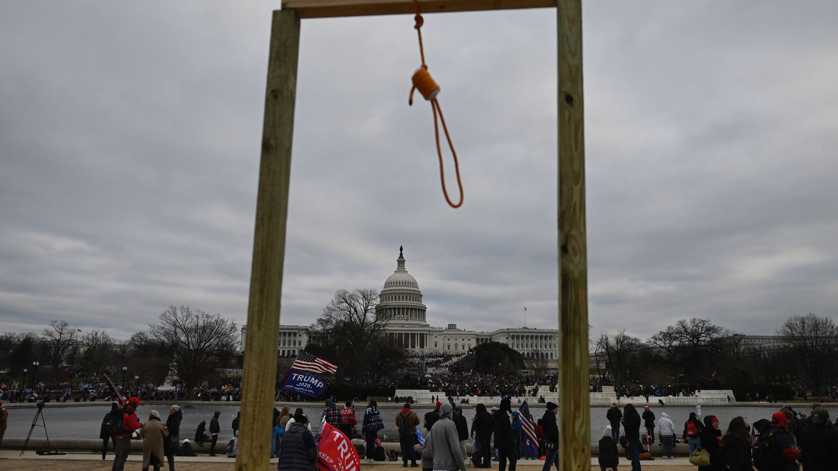 Supporters of President Donald Trump gather on the West side of the U.S. Capitol in Washington, D.C., on Jan. 6. Rioters breeched security and entered the Capitol as Congress was certifying the 2020 Electoral College votes. At least five people died as a result.