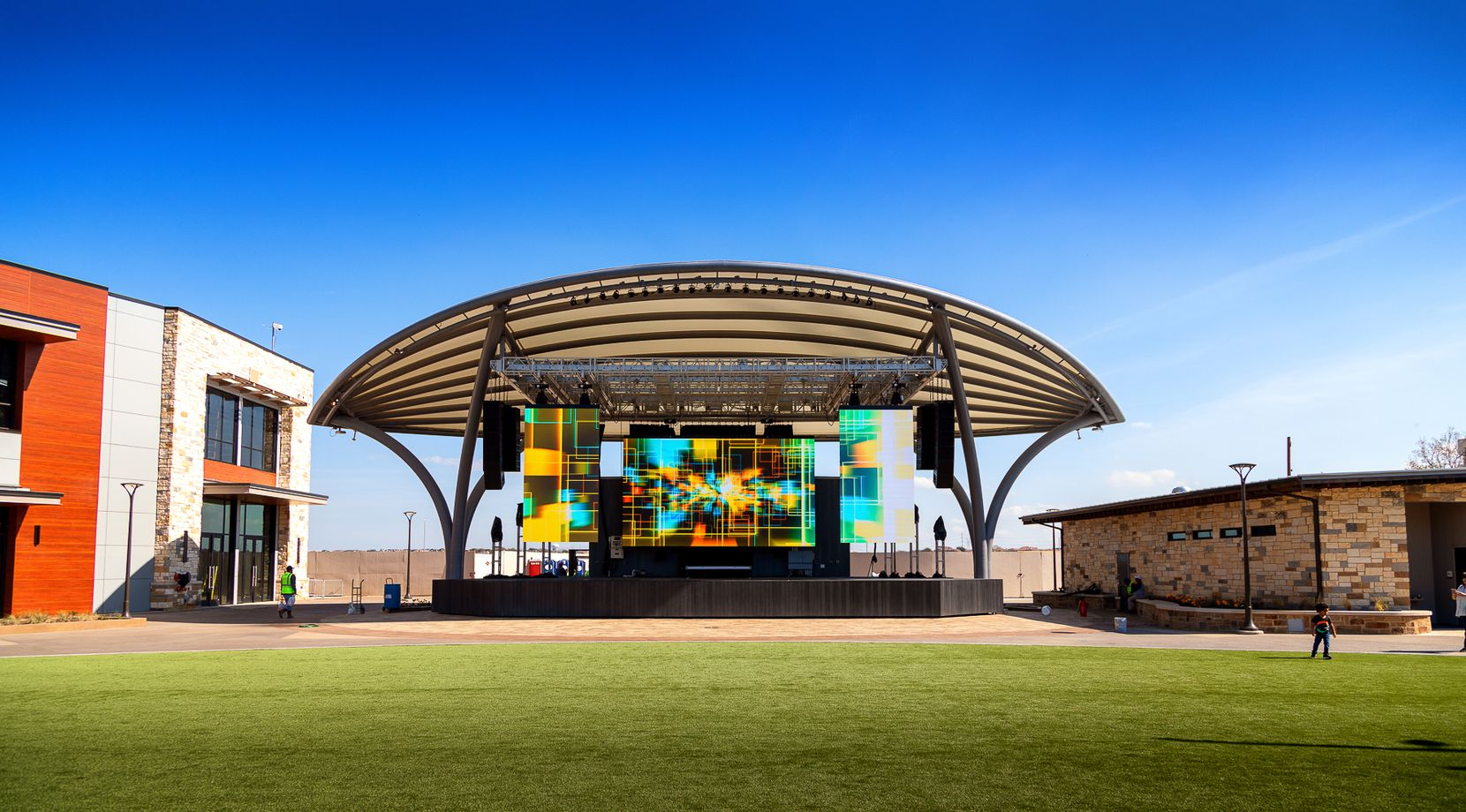 This performance stage is part of Grandscape, a $1.5 billion development along State Highway 121 in The Colony.