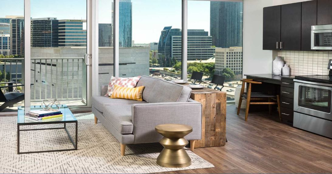 SkyHouse Dallas is among the newer, high-end apartment buildings that boosted the average rents for North Texas.