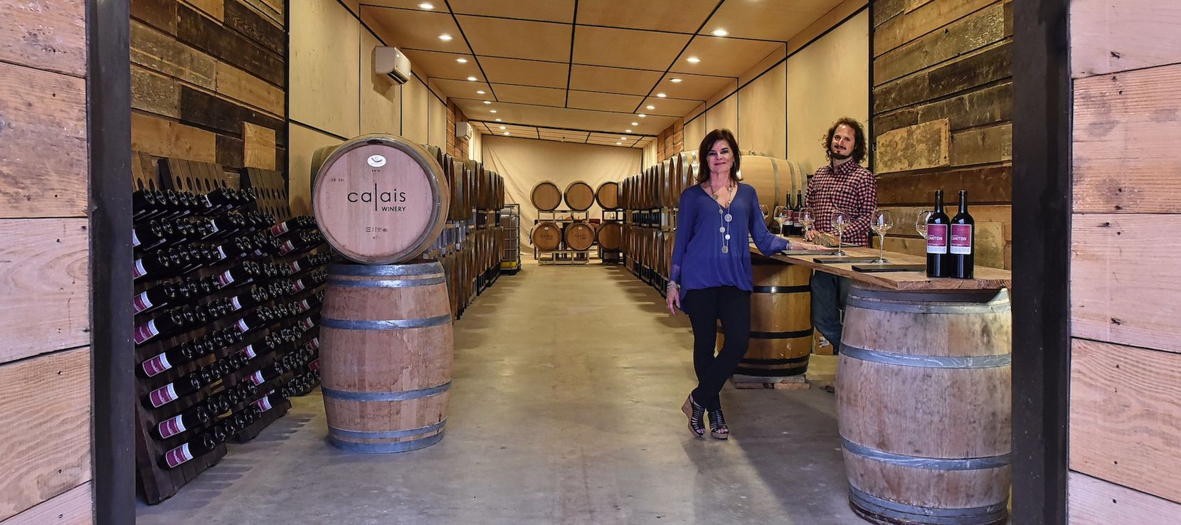 Benjamin Calais, right, is owner and winemaker at Calais Winery.