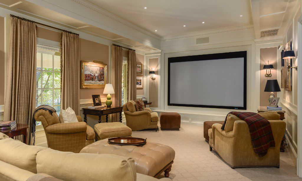 The home theater room.