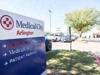 Entrance of the trauma center at Medical City Arlington in Arlington on Wednesday, October 6, 2021.