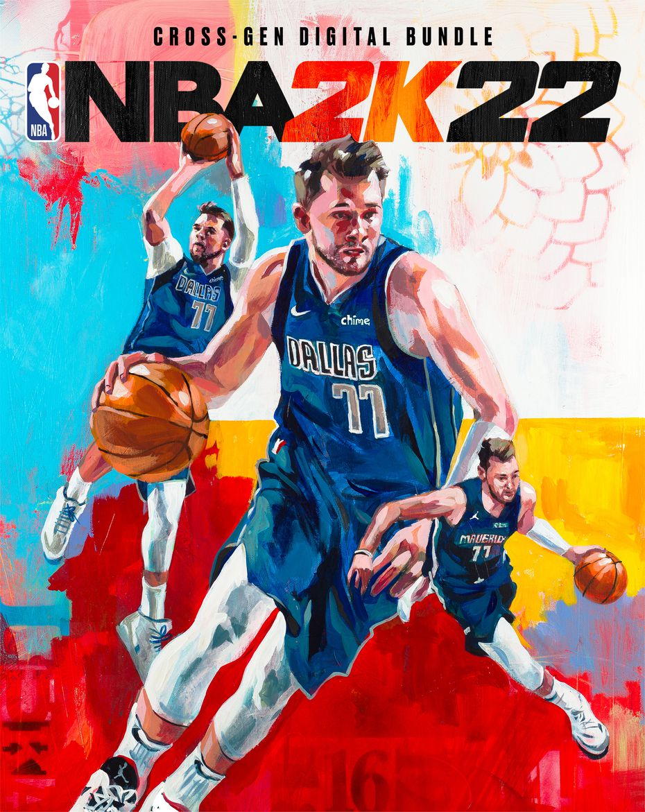 The cover for the cross-gen digital bundle edition of NBA 2K22, the latest entry in the basketball video game series, features Mavericks guard Luka Doncic.