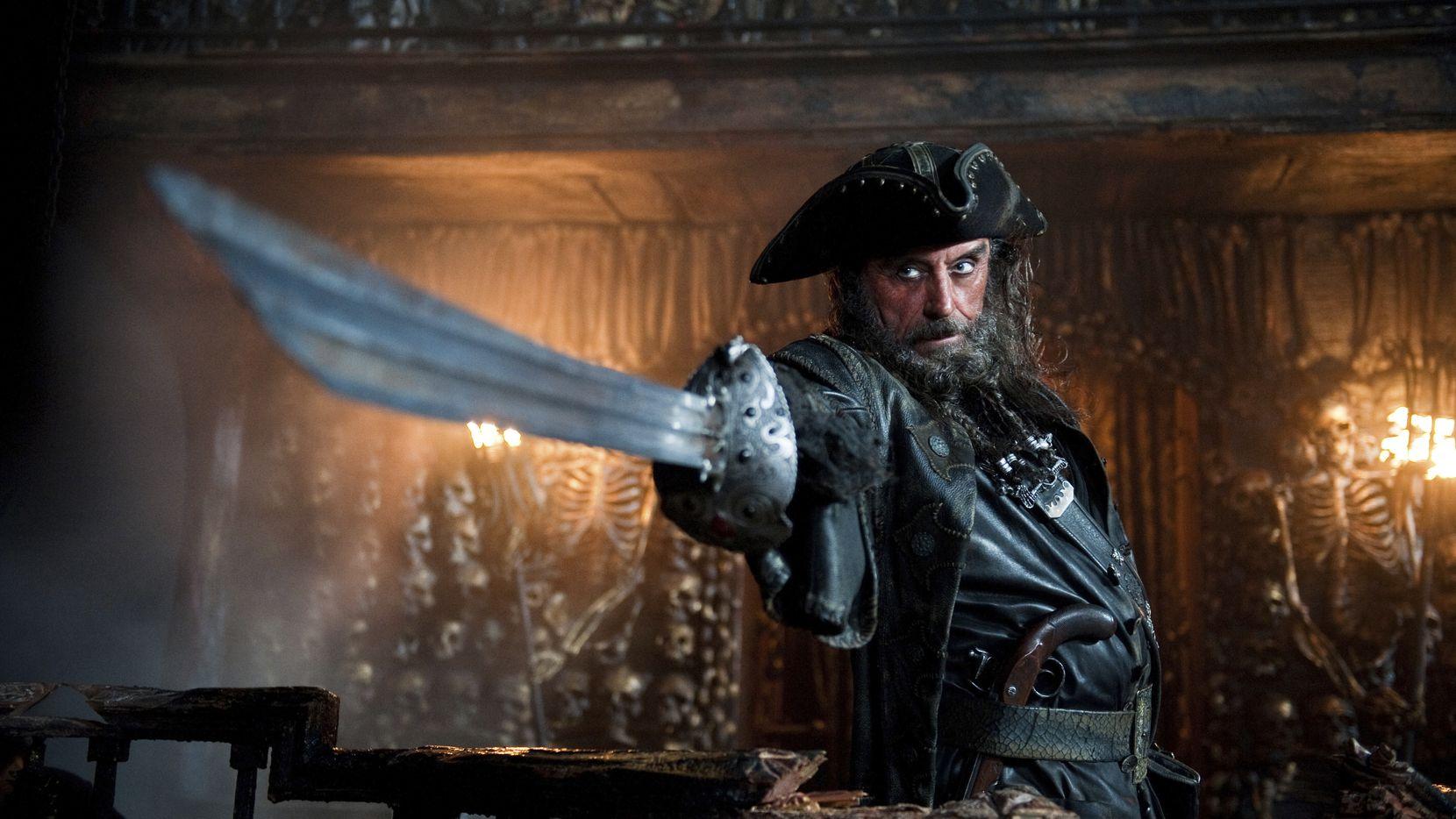 Ian McShane as Blackbeard in Pirates of the Caribbean: On Stranger Tides