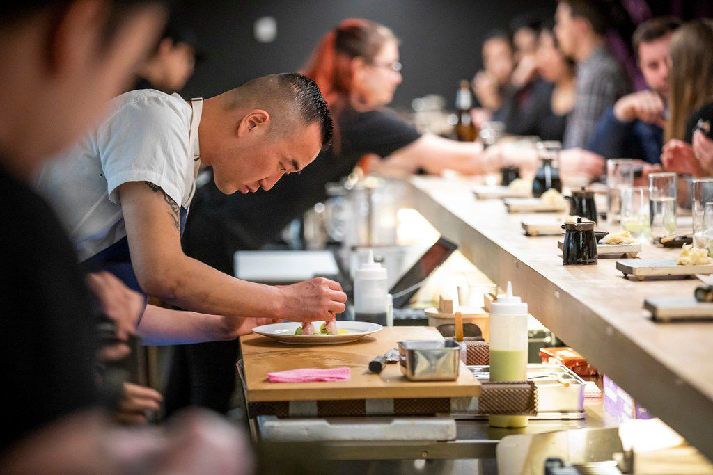 Chef Jimmy Park at Nori Handroll Bar in Deep Ellum
