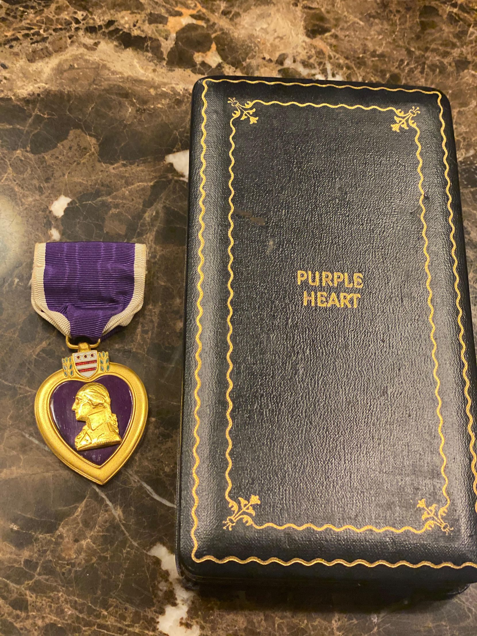 The Purple Heart medal that was given to Cowboys defensive end Aldon Smith.
