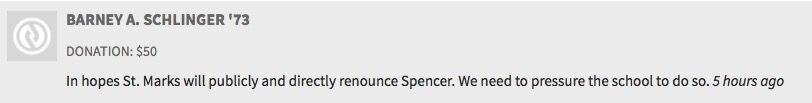 Screenshot from St. Mark's United Against Richard Spencer