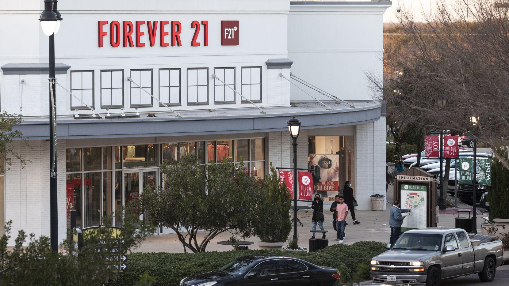 Forever 21 in Cedar Hill's Hillside Village shopping center.