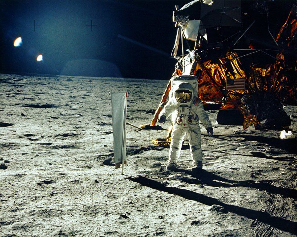 This July 20, 1969, photo obtained from NASA and taken by Neil Armstrong shows astronaut Buzz Aldrin on the Moon's Sea of Tranquility.