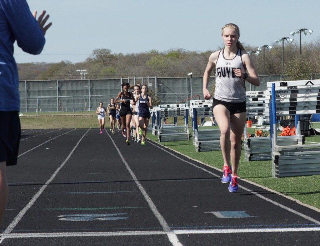 Denton Guyer's Brynn Brown, pictured in a file photo, ran the fastest 5,000-meter girls race in state history Saturday.