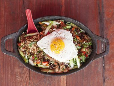 No, not the duck-fat fried rice! Chino Chinatown is currently closed in Trinity Groves in Dallas.