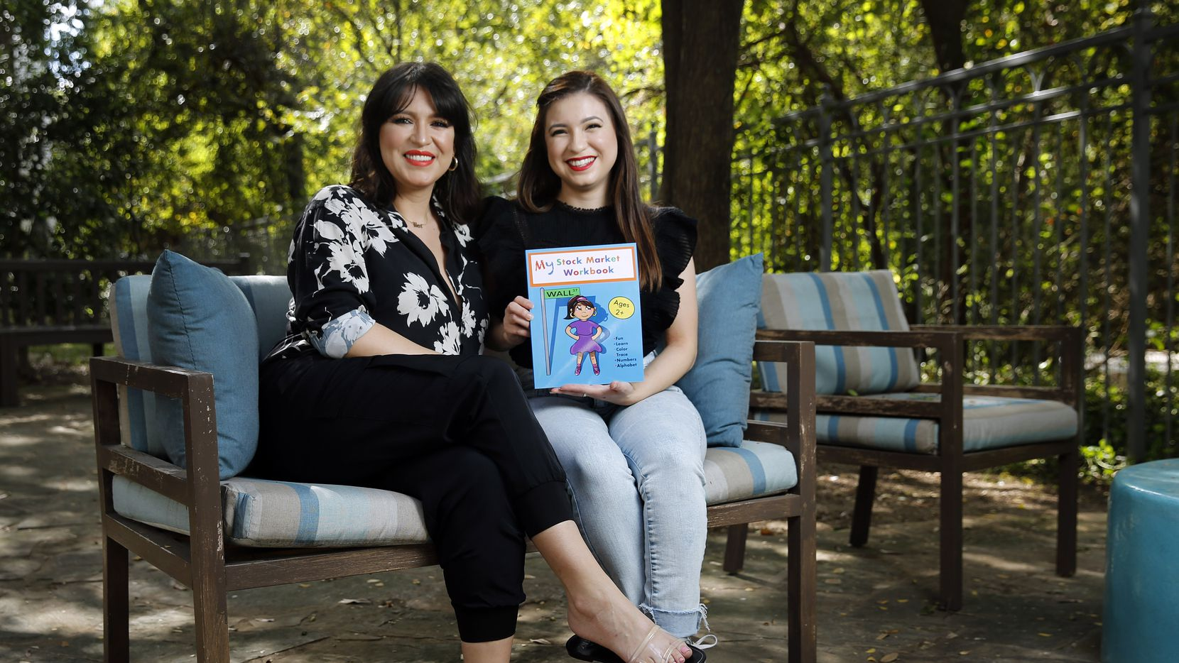 The Dallas mother-daughter duo of Linda Garcia (left) and Elizabeth Ruiz wrote My Stock Market Workbook, which seeks to teach young children about investing and generational wealth in a coloring book.
