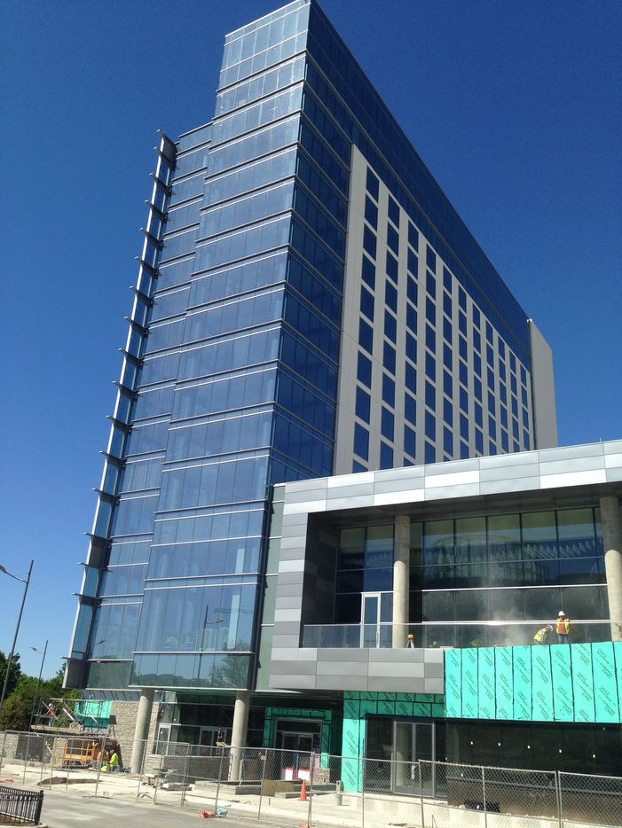 The 300-room Renaissance Hotel opens in Legacy West in a few months.