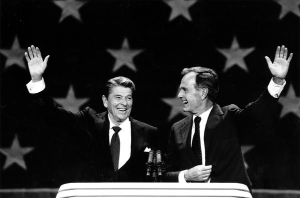 Dallas hosted the Republican National Convention at the Dallas Convention Center in 1984, when the GOP ticket of President Ronald Reagan and Vice President George H.W. Bush won re-election in a landslide.