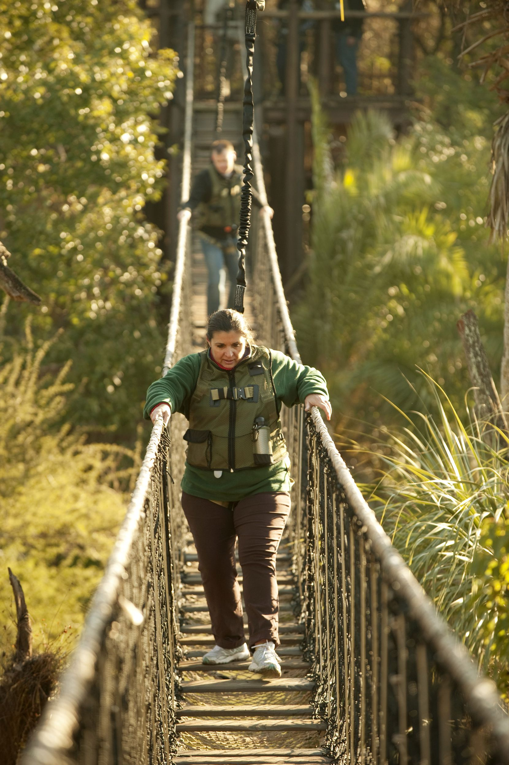 Guests can cross a rope bridge hovering over crocodiles during the three-hour Wild Africa Trek ($189 to $249 per person) through Animal Kingdom's version of an African savanna.