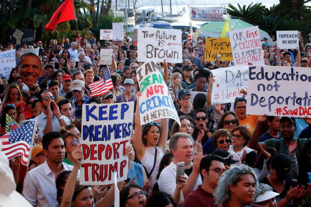DACA supporters took to the streets in San Diego and around the country after the Trump administration announced the Dreamers program would be rescinded.
