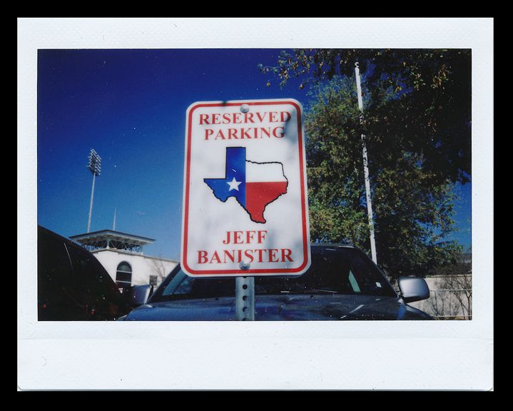 Texas Rangers spring training 2015: The parking spot of Texas Rangers manager Jeff Banister at the Rangers spring training facility in Surprise, Arizona. (Andy Jacobsohn/The Dallas Morning News)