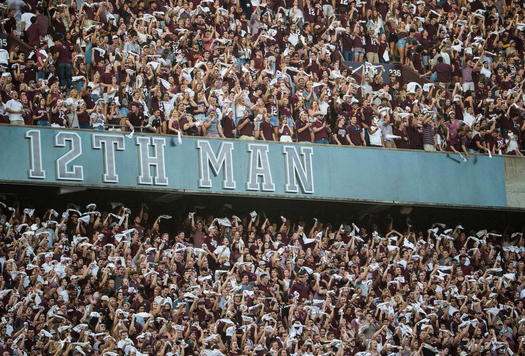Fans fill Kyle Field during a matchup between the Texas A&M Aggies and the Northwestern State Demons on Thursday, August 30, 2018 in College Station, Texas. (Ryan Michalesko/The Dallas Morning News)