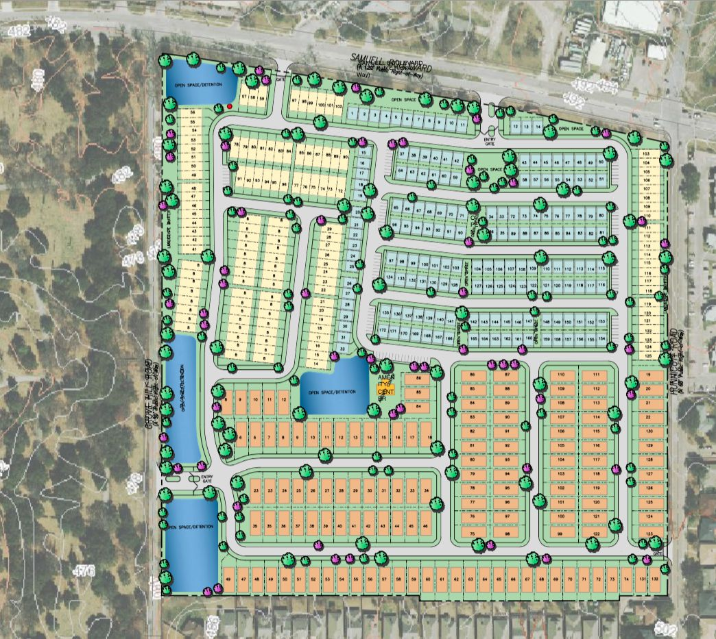More than 400 homes are planned in the Tennyson Village project.