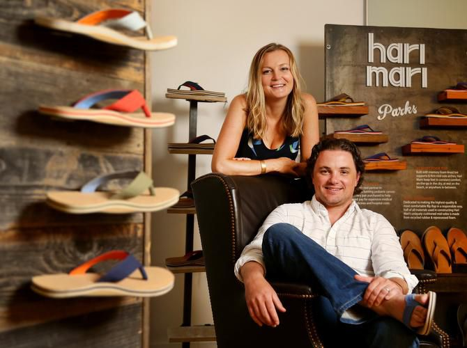 Husband-and-wife team and Hari Mari co-founders Jeremy and Lila Stewart.