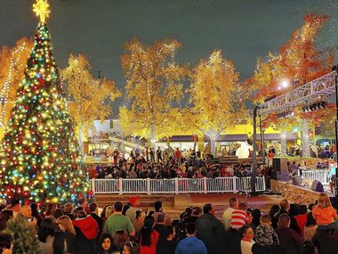 In this archive photo, attendees can be seen celebrating Garland's Christmas on the Square events.